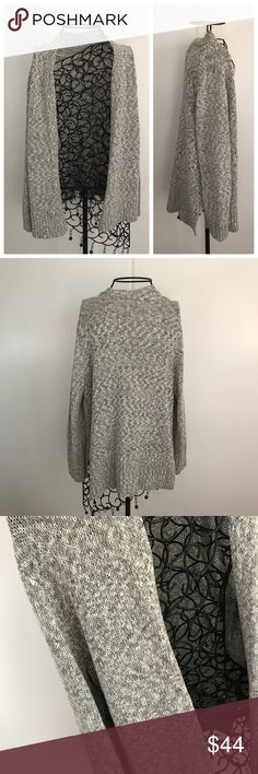 "LOFT Grey Open Sweater Cardigan. NWOT LOFT. New without tags. Grey. Size medium. Decently thick. Open sweater Cardigan. Measurements lying flat: length of front 24"" and length of back 26"".  ❌ No trades or off Poshmark transactions.   👌🏻Quick shipping.   💁🏻Offers welcome through ""Make an Offer"" feature.   👗👠 Bundle discount.   ❔ Feel free to ask any questions. LOFT Sweaters Cardigans"