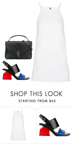 """""""Untitled #570"""" by yurithisandthat ❤ liked on Polyvore featuring Topshop, Marni and Yves Saint Laurent"""
