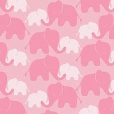 Camelot Cottons House Designer - Imaginarium - Elephants in Pink
