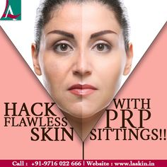 PRP for skin rejuvenation is the best way to ditch your uneven skin tone, dark circles, wrinkles, sagging skin and more. No more waiting for months to get the glowing skin. Call +919716022666 now! #LASkinAestheticClinic #PRP #Dermatologist #SkinClinic #SkinTreatment