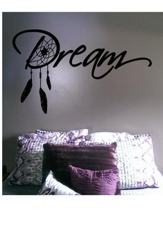 Dream Decal Dreamcatcher Vinyl Sticker by VinylCrocodile Decoration Stickers, Diy Wall Stickers, Removable Wall Stickers, Vinyl Decals, Wall Murals Bedroom, Wall Painting Decor, Wall Art, Wall Drawing, Inspiration Wall