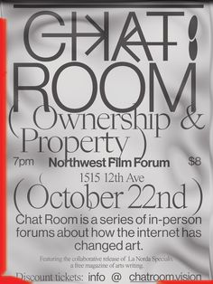 Poster design for a forum in Seattle