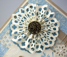 Simply Scored Snowflake Rosette WOW! Tutorial - Stampin' Up! Demonstrator - Mary Fish, Stampin' Pretty Blog, Stampin' Up! Card Ideas & Tutorials