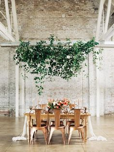 Sep 2019 - Hanging greenery makes for beautiful wedding reception ceiling decorations. Opt for suspended wreathes, garlands, or greenery chandeliers for your wedding Wedding Reception On A Budget, Wedding Table Setup, Wedding Costs, Backdrop Wedding, Wedding Ideas, Wedding Details, Ceremony Backdrop, Decor Wedding, Outdoor Ceremony