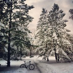 """Discovered by Bradley Hanson: """"Minnehaha Creek, Minneapolis, MN - Biking all year in Minneapolis is easy with the best bicycling path system in the US."""" www.bradleyhanson.com"""