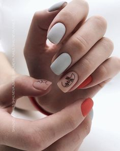 Make an original manicure for Valentine's Day - My Nails Acrylic Nail Designs, Acrylic Nails, How To Do Nails, Fun Nails, Nail Manicure, Nail Polish, American Nails, City Nails, Minimalist Nails