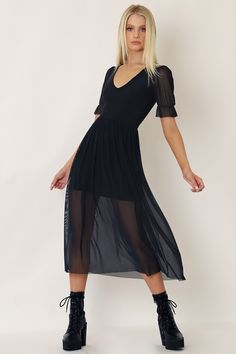 Super Sheer Stellar Dress - Limited - Artpocalypse (NEW) - Collections Black Milk Clothing, Skirts With Pockets, Sheer Fabrics, Tee Dress, Clothes For Women, Women's Clothes, Feminine, Dresses With Sleeves, Style