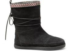 Black Suede Trim Women's Nepal Boots | TOMS.com #toms