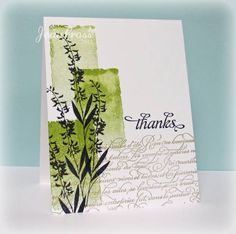 luv the shading in the color blocks...silhouette flowers on top...one layer card...