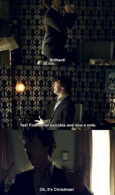One of the first great things I remember Sherlock doing. He's infected us all with his glorious crazy.