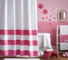 Striped Bottom Shower Curtain #pbkids