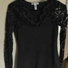 NEW item!! Cute lace top... Size small... Super cute lace top...size small... 95% cotton and 5% spandex----lace is 92% nylon and 8% spandex..brand new item never worn Ambiance apparel Tops