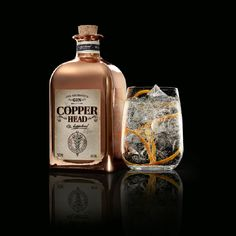 Copper Head Gin by Filliers Alcohol Bottles, Gin Bottles, Rum, Gin Joint, Alcohol Spirits, Coffee With Alcohol, Gin Distillery, Gin Tasting, Best Gin