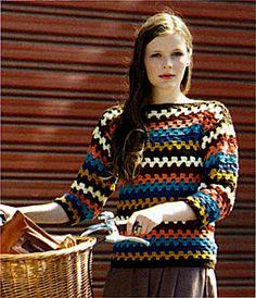 Ravelry: Marvel 8ply Crochet Jumper pattern by Spotlight