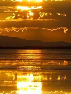 Spectacular golden sunset