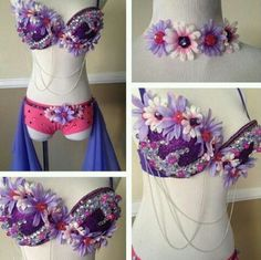 Daisy rave bra and bottoms
