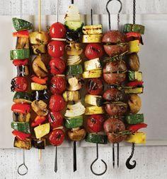 Grilled Vegetable Kebobs