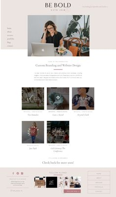 Be Bold Design Studio is a boutique branding and website design studio located in the City Beautiful, Orlando. Layout Design, Blog Layout, Website Layout, Wireframe, Ecommerce, Interior Simple, Design Art Nouveau, Design Presentation, Identity