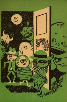Vintage Halloween • cryptofwrestling: Vintage Halloween Illustration