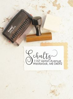 Wedding Stamper Return Address Stamp Invite Custom Self Inking 10253