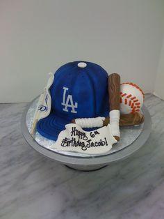 Go Dodgers cake! Dodgers Cake, Dodgers Party, 1st Birthday Parties, Birthday Cake, Theme Parties, Party Themes, Baseball Birthday, Baseball Party, Baseball Cakes
