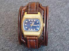 leon / Kožený remienok na starožitné hodinky Raketa