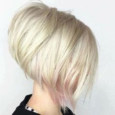 Looking for stacked bob hairstyles? Find stacked bob hairstyles pictures for graduated, fine hair, long hair, and layered hairstyles. Angled Bob Haircuts, Stacked Bob Hairstyles, Short Hairstyles For Women, Cool Hairstyles, Blonde Hairstyles, Medium Hairstyles, Hairstyles 2018, Short Haircuts, Haircut Short