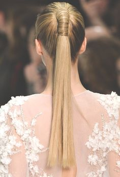 Wrapped ponytail. #hair #style
