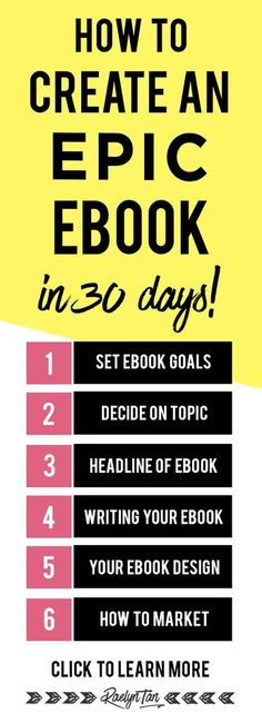 How to write an ebook (step by step): Wow! Amazing tips to create your ebook and make money. (design + marketing + goal-setting + social media promotions tips included!)