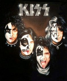 Paul Stanley, Gene Simmons, Eric Singer, Kiss Group, Kiss Me Love, El Rock And Roll, Kiss Members, Rock Poster, Vintage Kiss