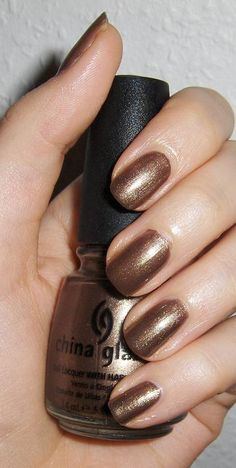 "China Glaze ""Prize-Winning mare""- golden brown #nail polish / lacquer / vernis"