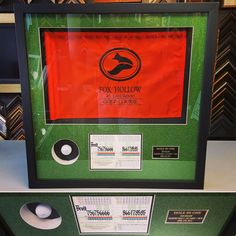 Do you have a hole-in-one or another special memory you'd like to display? We can help! We are Denver's sports and shadowbox framing experts, and we'd love to work with you! #art #pictureframing #customframing #denver #colorado #shadowbox #sportsframing #holeinone