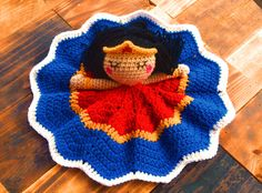 Hey, I found this really awesome Etsy listing at https://www.etsy.com/listing/220694400/crochet-wonderwoman-inspired-lovey-doll