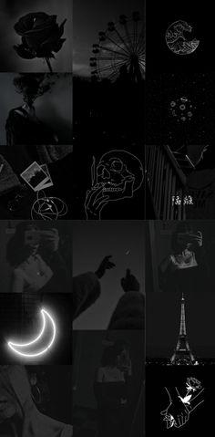 Aesthetic black wallpaper hd