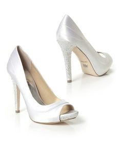shoes  Aniston Bridal Pump in white,Dessy round ,  matte satin ,   ,  Dessy ,  Dessy ,  The Aniston has a