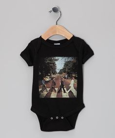 Take a look at this Black Abbey Road Cover Beatles Bodysuit - Infant by American Classics on #zulily today!