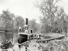 "Florida in the 1890s. ""Brown's Landing, Rice Creek."""