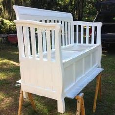 ... about Crib Bench on Pinterest | Old Cribs, Repurposed and Crib Spring