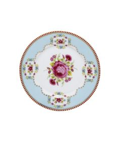 Blue Rose Print Cake Plate, PiP Studio