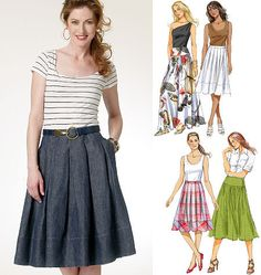 A personal favorite from my Etsy shop https://www.etsy.com/listing/230017615/butterick-pattern-b5756-misses-skirt