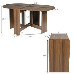 Folding Drop Leaf Dining Table Console Table $89.95 + Free Shipping This is the new multifunctional dining table which can be folded and extended freely.