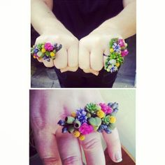 fresh flower rings??? this should be the new corsage!! by Pixie's Petals