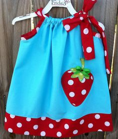 Strawberry Dress!~ love these colors!
