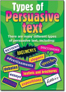 Persuasive Text Posters