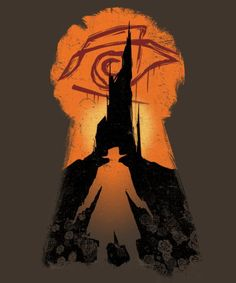 Stephen King's The Dark Tower: The Gunslinger.  Design by MeganLara available from @qwertee apparel.