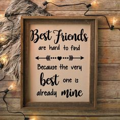 Diy Birthday Gifts Discover Best Friends Are Hard To Find Best Friends Quote Best Friends SVG Printable Quote Printable SVG Quote SVG Files Cricut Silhouette Best friend gift idea Diy Gifts For Friends, Birthday Gifts For Best Friend, Best Friend Gifts, To My Best Friend, Best Friend Things, Bff Gifts, Christmas Quotes For Friends, Best Friend Christmas Gifts, Friend Crafts
