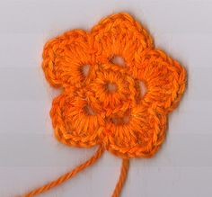I'll probably post a lot of crochet flower patterns.  I love to make them.
