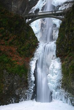 Maltinoma Falls Snowstorm  - Explore the World with Travel Nerd Nici, one Country at a Time. http://travelnerdnici.com/