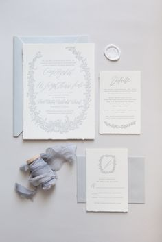 Written Word Calligraphy Design   Vancouver Calligrapher   Modern Romantic Wedding Calligraphy   Floral Gray Letterpress Invitations   http://writtenwordcalligraphy.com