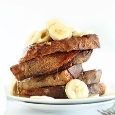 5 Ingredient 1 Bowl Vegan Banana French Toast. So tender, flavorful and delicious you'd never guess it was vegan.